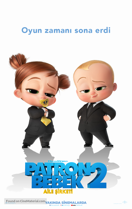 The Boss Baby: Family Business - Turkish Movie Poster