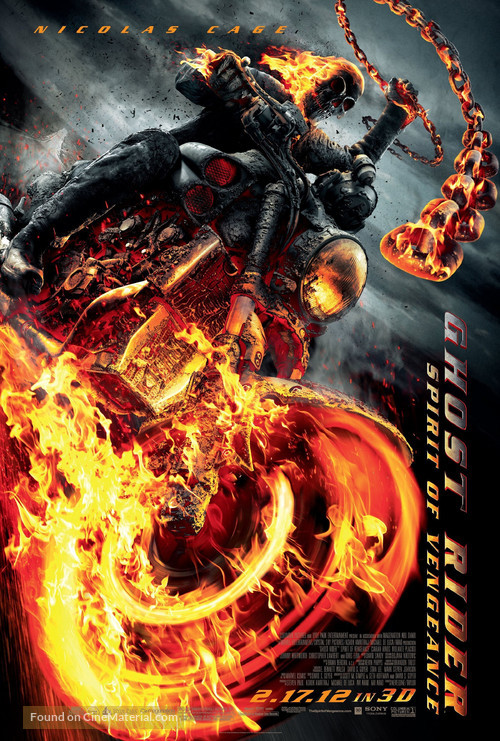 Ghost Rider: Spirit of Vengeance - Movie Poster