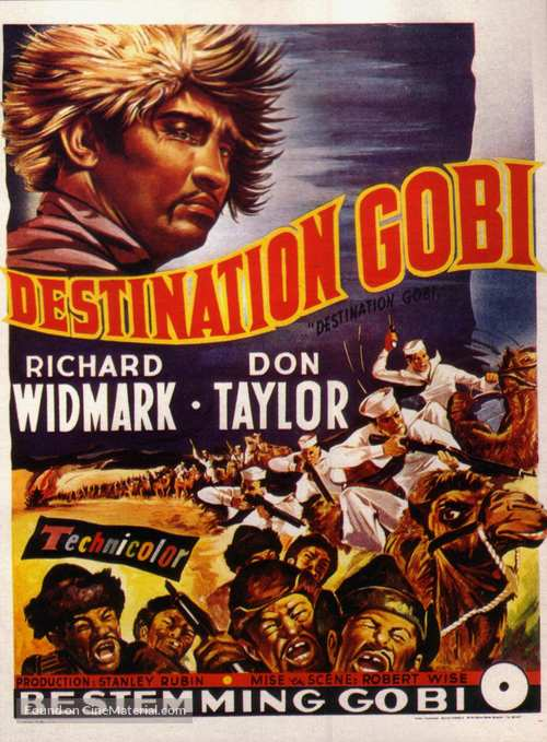 Destination Gobi - Belgian Movie Poster