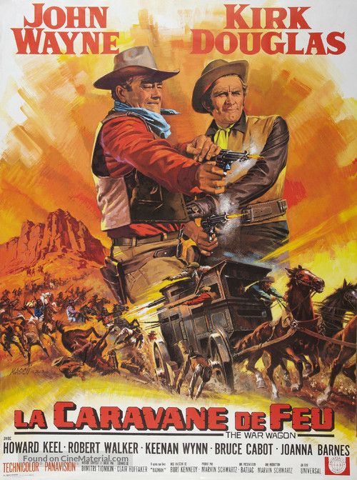 The War Wagon - French Movie Poster