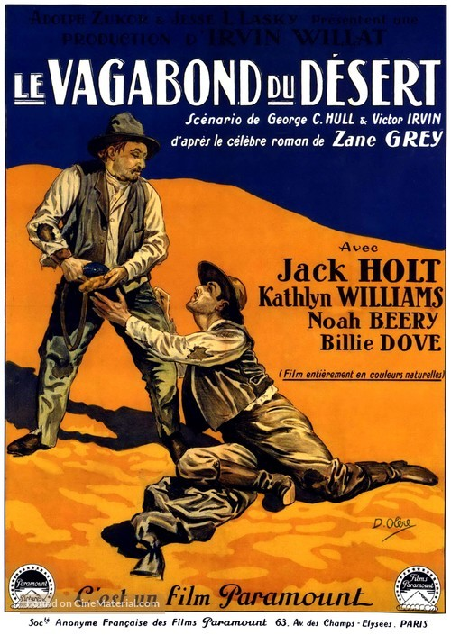 Wanderer of the Wasteland - French Movie Poster