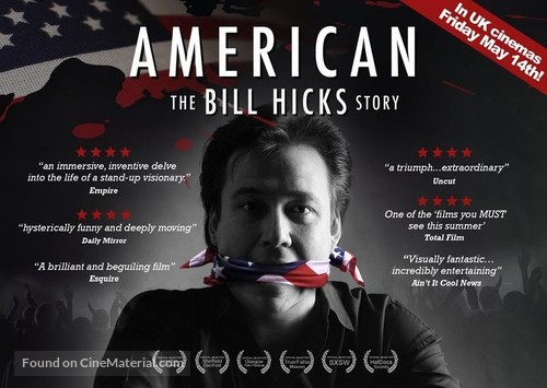 American: The Bill Hicks Story - British Movie Poster