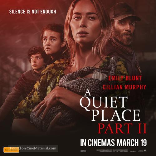 A Quiet Place: Part II (2021) Australian movie poster