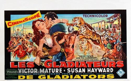Demetrius and the Gladiators - Belgian Movie Poster