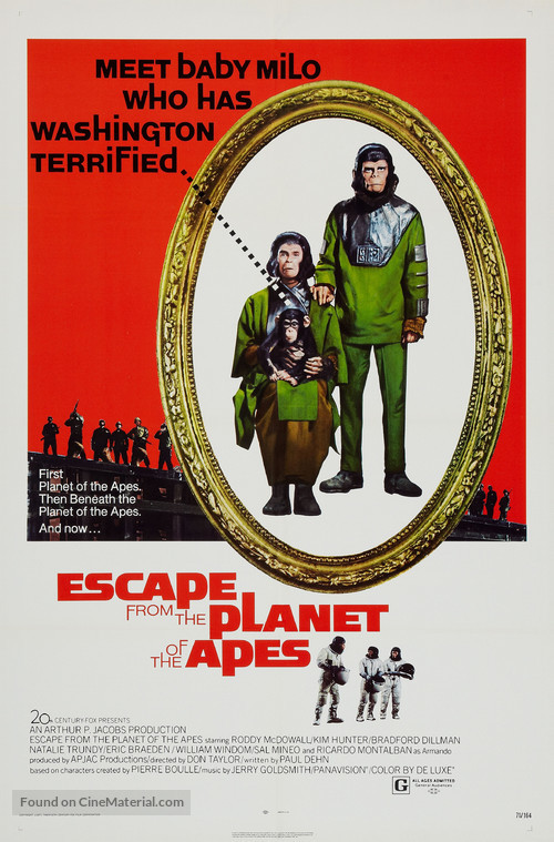 Escape from the Planet of the Apes - Theatrical movie poster