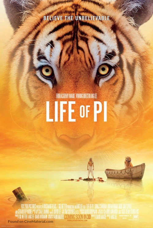 Life of Pi - Teaser movie poster