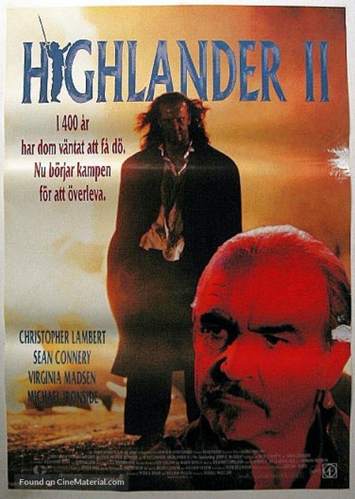 Highlander 2 - Swedish Movie Poster