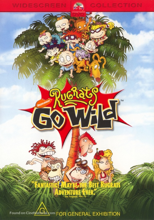 Rugrats Go Wild! - Australian DVD movie cover