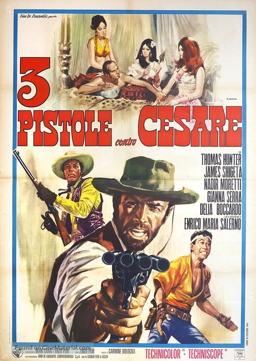 3 pistole contro Cesare - Italian Movie Poster