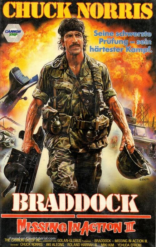 Braddock: Missing in Action III - German VHS movie cover
