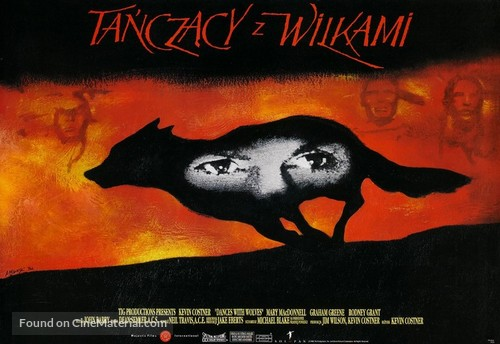 Dances with Wolves - Polish Movie Poster