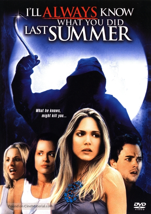 I'll Always Know What You Did Last Summer - DVD cover