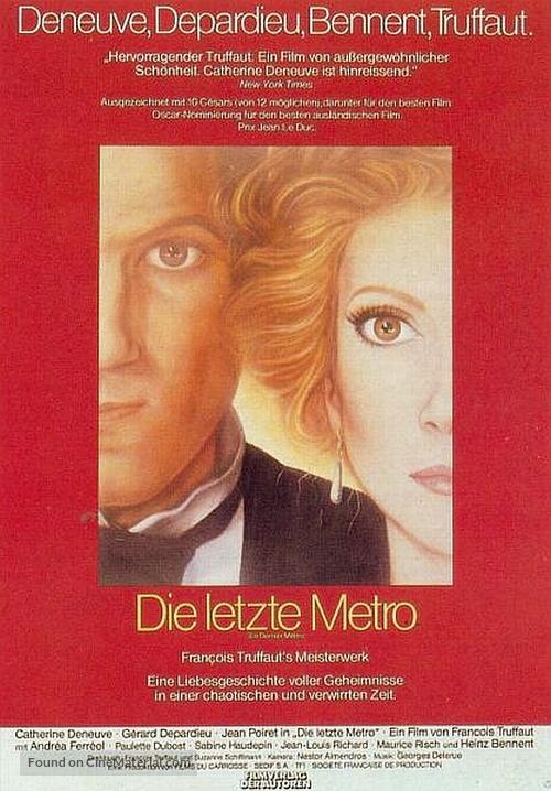 Le dernier métro - German Movie Poster