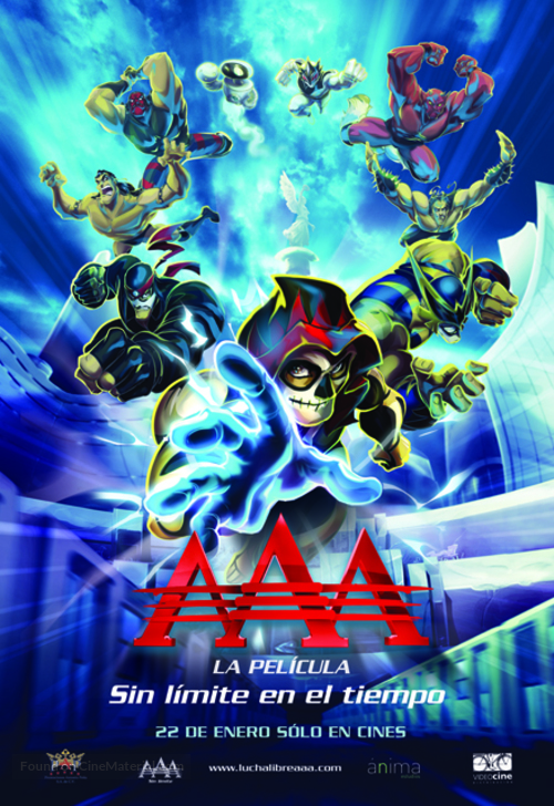 AAA, la película: Sin límite en el tiempo - Mexican Movie Poster