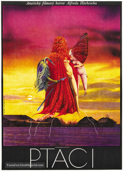 The Birds - Czech Movie Poster