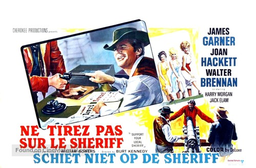 Support Your Local Sheriff! - Belgian Movie Poster
