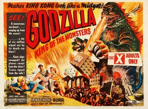 Godzilla, King of the Monsters! - British Movie Poster