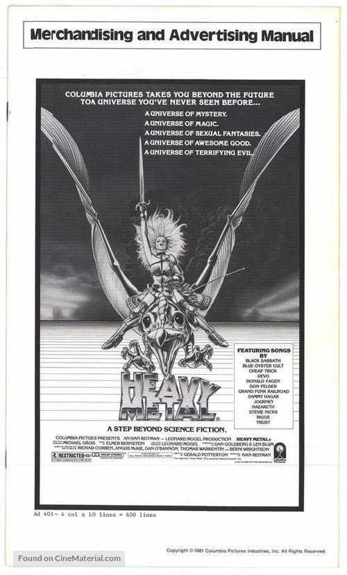 Heavy Metal 1981 Movie Cover