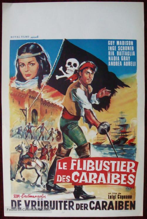 L'avventuriero della Tortuga - Belgian Movie Poster