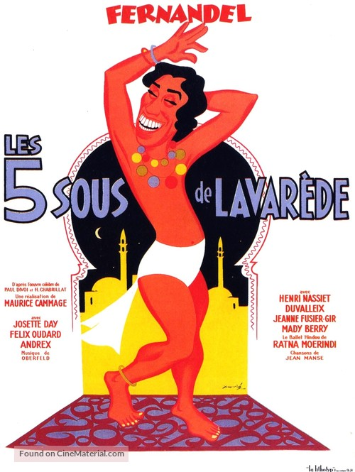 Cinq sous de Lavaréde, Les - French Movie Poster