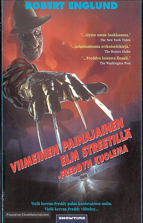 Freddy's Dead: The Final Nightmare - Finnish VHS movie cover