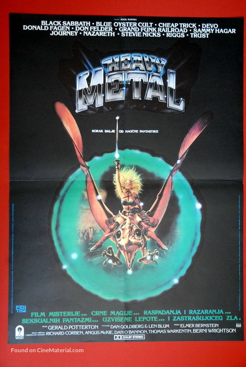 Heavy Metal 1981 Yugoslav Movie Poster