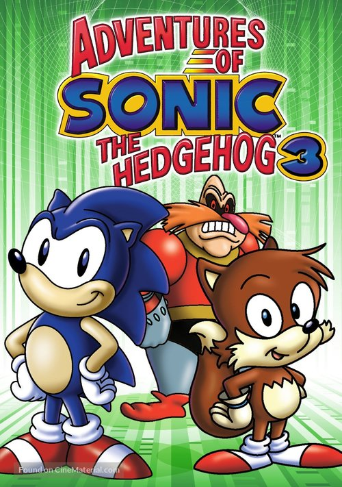 """""""Adventures of Sonic the Hedgehog"""" - DVD movie cover"""