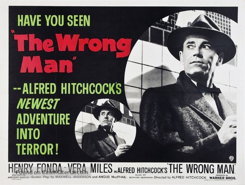 The Wrong Man - British Movie Poster