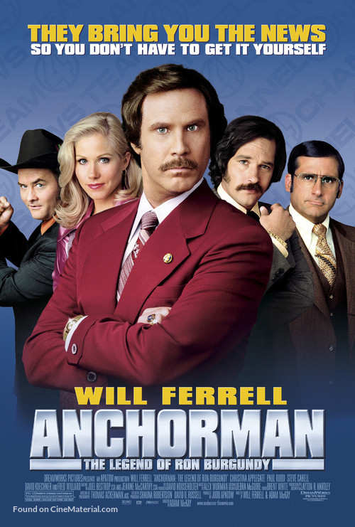 Anchorman: The Legend of Ron Burgundy - Movie Poster