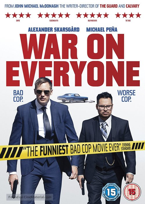War on Everyone - British Movie Cover