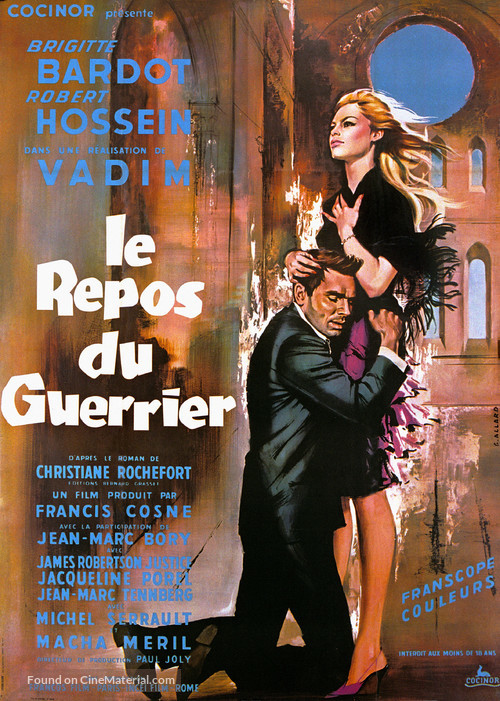 Le repos du guerrier - French Movie Poster