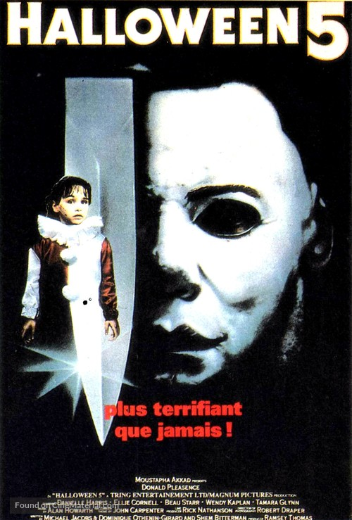Halloween 5 - French Movie Poster