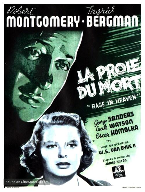 Rage in Heaven - Belgian Movie Poster