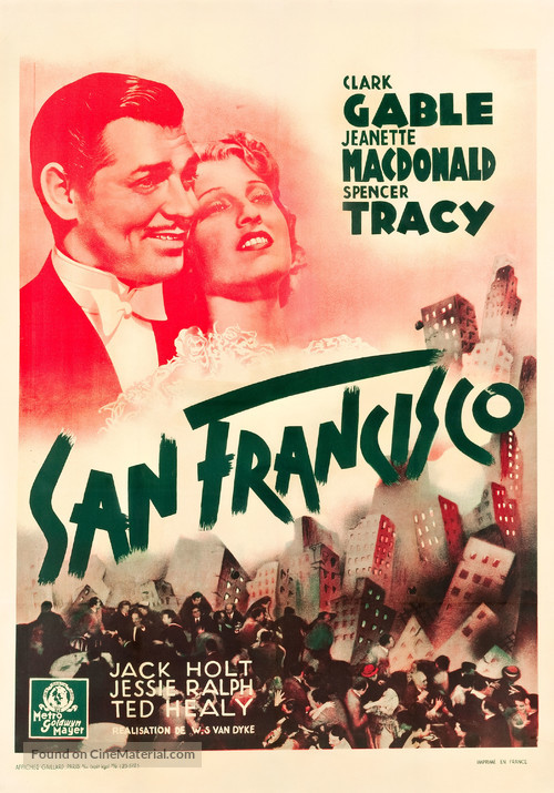 San Francisco - French Movie Poster