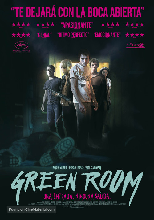 Green Room - Spanish Movie Poster