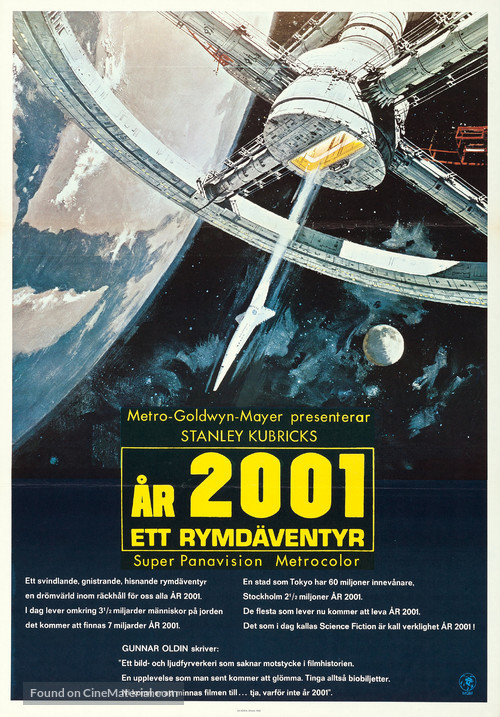 2001: A Space Odyssey - Swedish Movie Poster