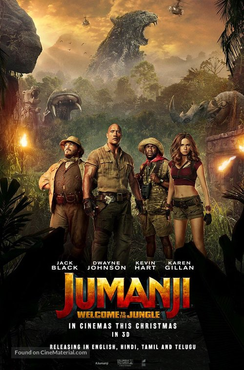 Jumanji: Welcome to the Jungle - Indian Movie Poster