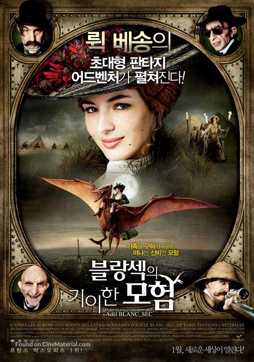 Les aventures extraordinaires d'Adèle Blanc-Sec - South Korean Movie Poster