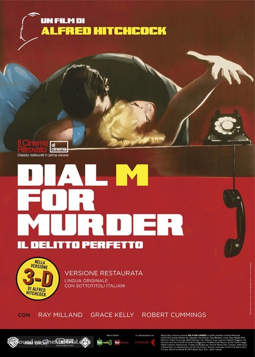 Dial M for Murder - Italian Re-release movie poster