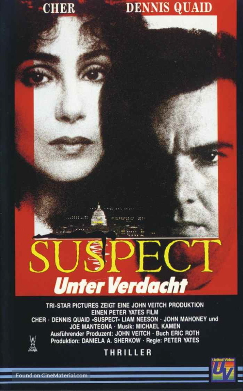 Suspect - German VHS movie cover