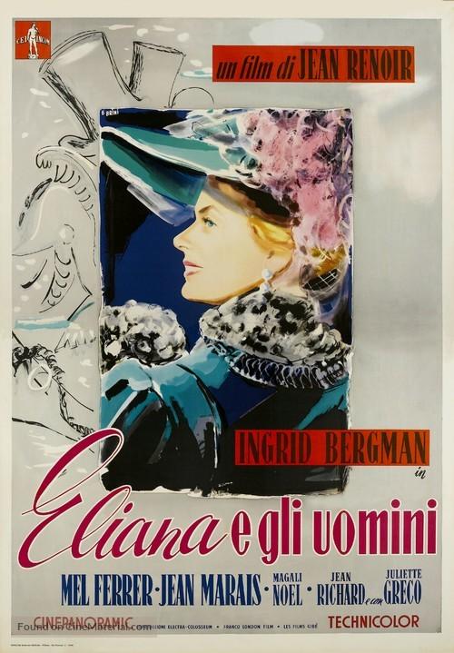 Elena et les hommes - Italian Movie Poster