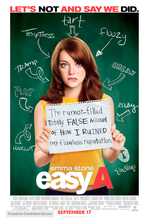 Easy A - Theatrical movie poster