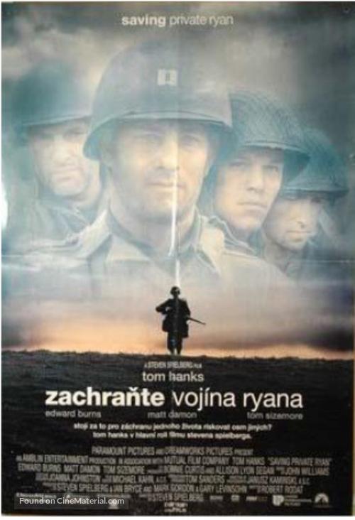 Saving Private Ryan - Czech Movie Poster