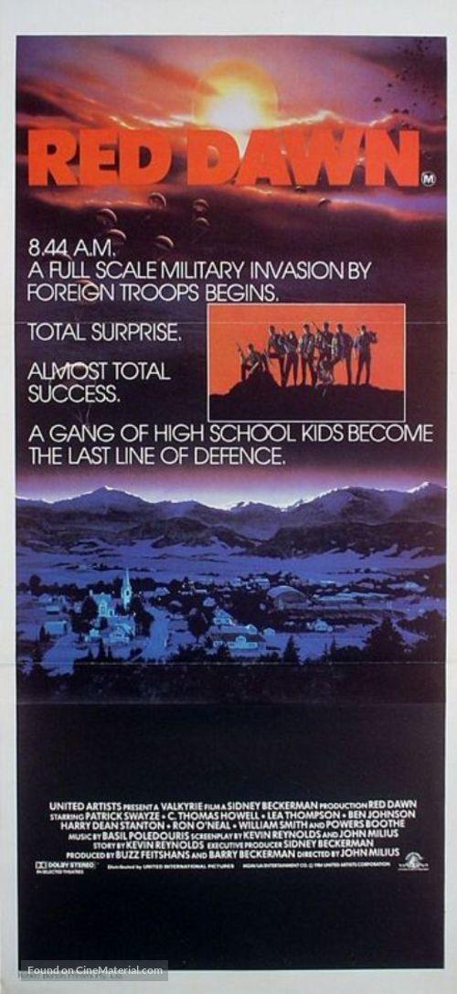 Red Dawn - Australian Movie Poster