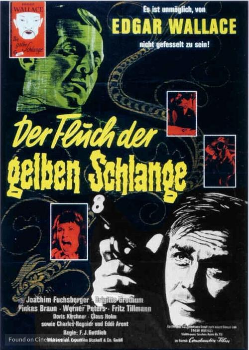 Der Fluch der gelben Schlange - German Movie Poster