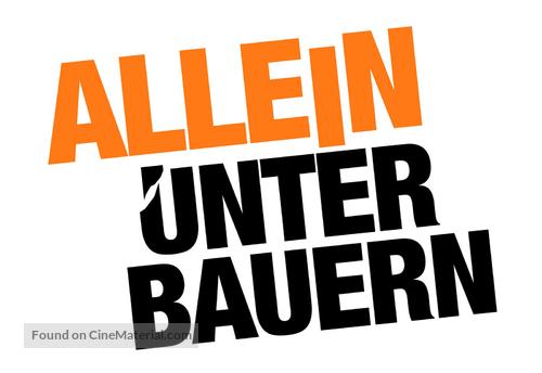 """""""Allein unter Bauern"""" - German poster"""
