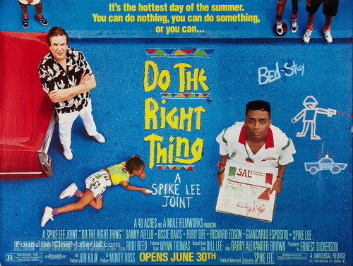 Do The Right Thing - Advance movie poster