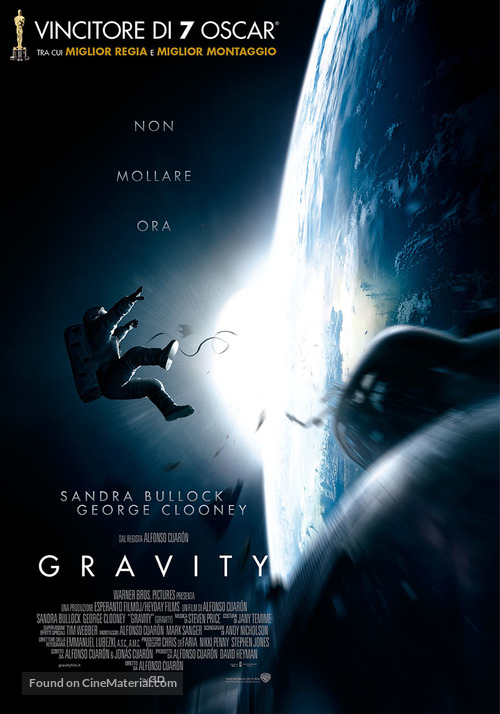 Gravity - Italian Movie Poster