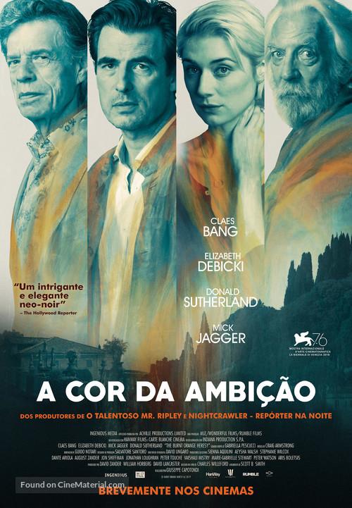 The Burnt Orange Heresy - Portuguese Movie Poster