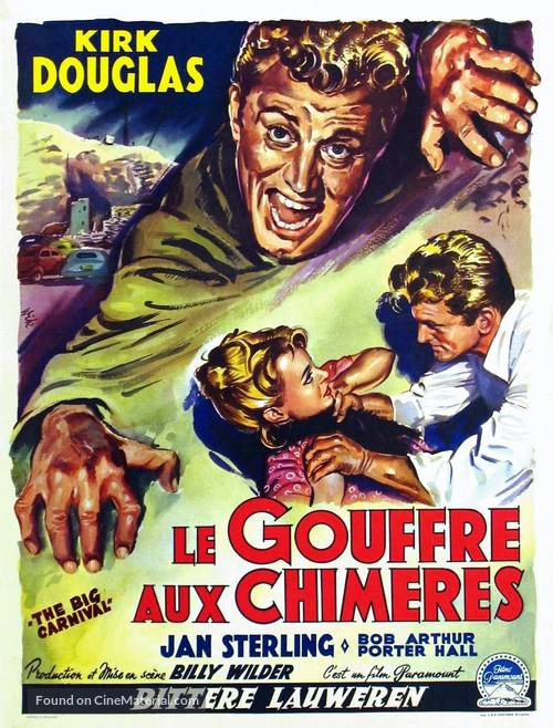 Ace in the Hole - Belgian Movie Poster